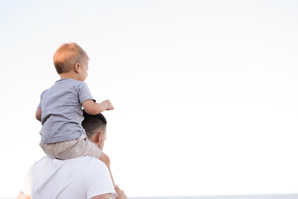 boy on shoulders
